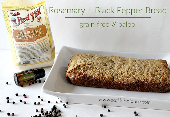 Rosemary + Black Pepper Bread - Paleo // Grain Free - Eat Life Balance